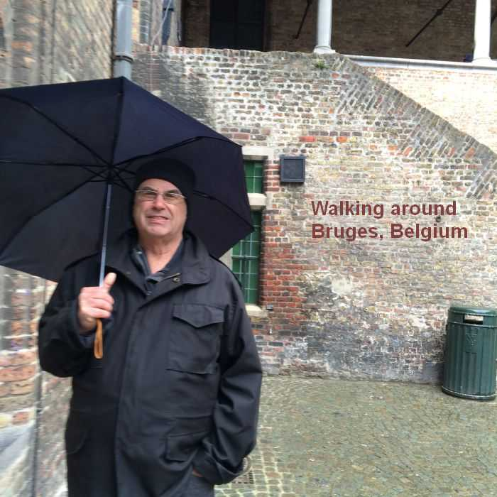 Walking around Bruges, Belgium